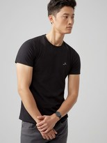 Frank and Oak The Made in Canada Signature T-Shirt in Black