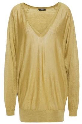 Theory Metallic Linen-blend Sweater
