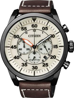 Citizen Men's Watch Chronograph XL Quartz Leather CA4215-04W