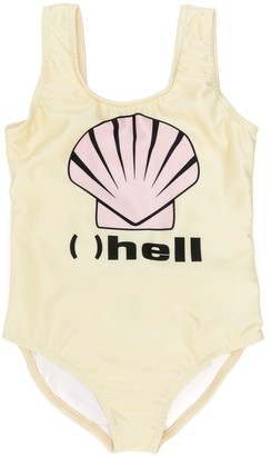 Caroline Bosmans Kids '( ) Hell' Printed Swimsuit