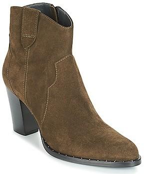 Myma PLOUTAS women's Low Ankle Boots in Kaki