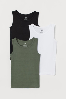 H&M 3-pack Tank Tops - Green