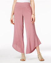 Rewash Juniors' Asymmetrical-Hem Soft Pants