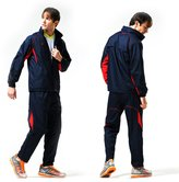 Fuerza Mens Built In Hood Warm Up Woven Track Jacket & Pants Tracksuit - Medium
