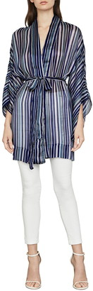 BCBGMAXAZRIA Stripe Woven Belted Kimono