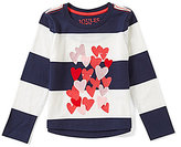 Joules Little Girls 3-6 Ava Striped Heart Top