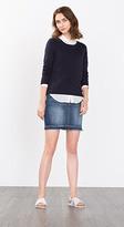 Esprit OUTLET edc denim skirt with contrasting hem