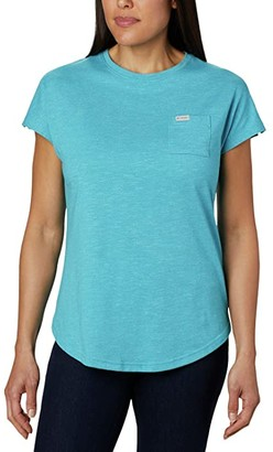 Columbia Cades Capetm Tee (Clear Water) Women's T Shirt