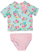 Little Me Baby Girls Baby Girls Two-Piece Floral Print Rashguard and Bloomer Set