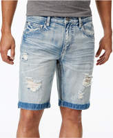 """INC International Concepts I.N.C. Men's 11"""" Ripped Light Wash Jean Shorts, Created for Macy's"""