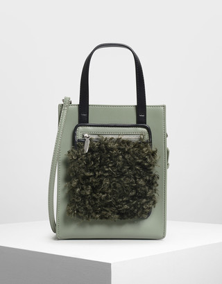 Charles & Keith Zipper Compartment Tote Bag