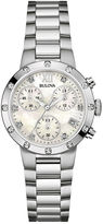 Bulova Diamonds Maiden Lane Womens Diamond-Accent Bracelet Watch 96R202
