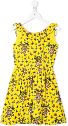 MOSCHINO BAMBINO TEEN butterfly print dress