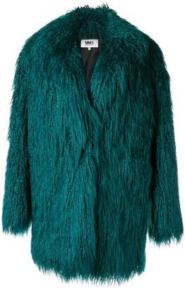 MM6 MAISON MARGIELA Faux-Fur Midi Coat
