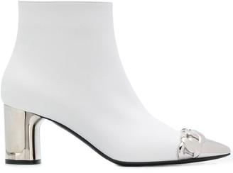 Casadei Metallic Heel Ankle Boots
