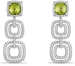 David Yurman Châtelaine Pave Bezel Triple Drop Earring With Peridot