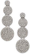 INC International Concepts Silver-Tone Pavandeacute; Disc Drop Earrings, Created for Macy's