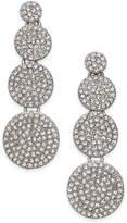 INC International Concepts Silver-Tone Pavandeacute; Disc Drop Earrings, Only at Macy's