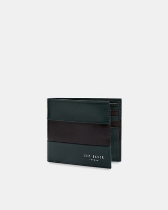Ted Baker Contrast Stripe Leather Bifold Wallet