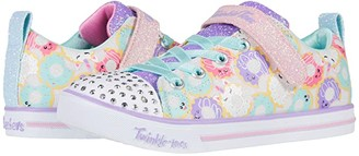 Skechers Twinkle Toes - Sparkle Lite 314755L (Little Kid/Big Kid) (White/Multi) Girl's Shoes