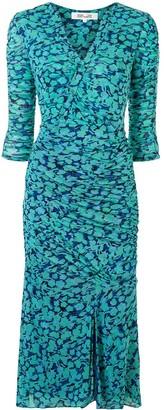Dvf Diane Von Furstenberg Briella ruched floral-print dress