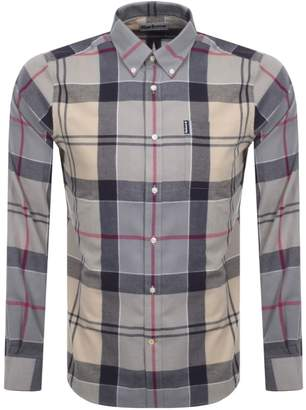 Barbour Long Sleeved Tartan 5 Shirt Grey