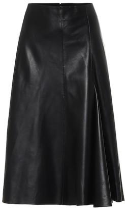 Joseph Barb high-rise leather skirt