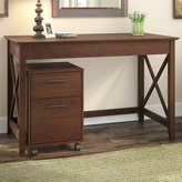 Beachcrest Home Cyra Writing Desk Color: Bing Cherry