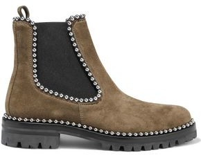 Alexander Wang Spencer Studded Suede Ankle Boots