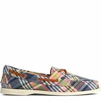 Sperry Women's A/O 2-Eye Washed Plaid Shoe