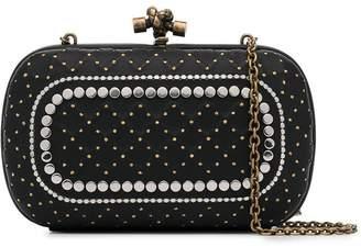 Bottega Veneta black Catena studded clutch bag