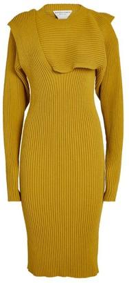 Bottega Veneta Draped Knit Midi Dress