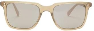Oliver Peoples Lachman Mirrored Square Acetate Sunglasses - Mens - Khaki