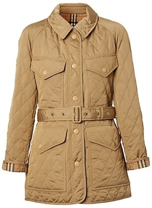 Burberry Kemble Quilted Belted Field Jacket