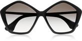 Miu Miu Pentagon-frame acetate sunglasses