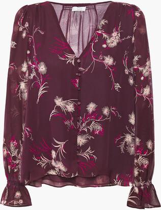 Joie Bolona Floral-print Silk-chiffon Shirt