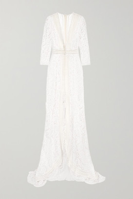 Galvan Sevilla Cotton-blend Lace Gown - White