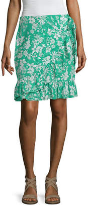 MIXIT Mixit Womens Mid Rise Short Wrap Skirt