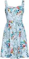 Yumi Tropical Flower Map Print Sun Dress
