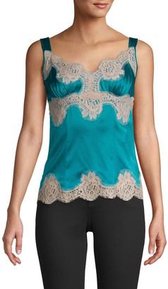 Dolce & Gabbana Silky Lace-Trim Blouse