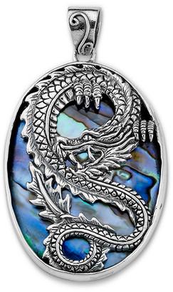 Samuel B. Silver Abalone Dragon Pendant