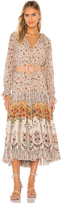 Free People Feeling Groovy Border Midi Dress