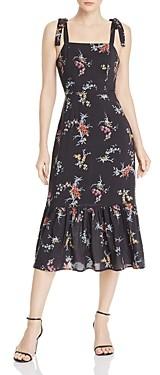 Paige Tolucah Orchid Print Dress in Black