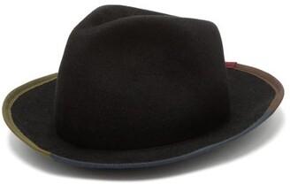 Albertus Swanepoel Grosgrain-trim Felt Fedora - Black