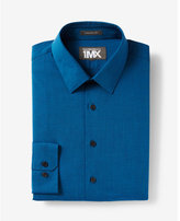 Express athletic fit textured 1MX dress shirt