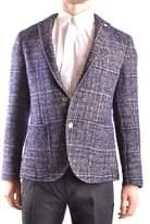 Manuel Ritz Men's Blue Wool Blazer.