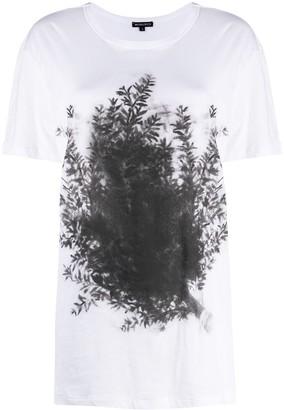Ann Demeulemeester leaf-print cotton T-shirt
