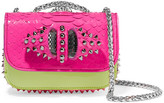 Christian Louboutin Sweet Charity Mini Python And Leather Shoulder Bag - Fuchsia