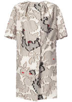 Paule Ka floral patches oversized coat