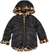 Asstd National Brand Pistachio Reversible Long-Sleeve Faux-Fur Jacket - Preschool Girls 4-6x